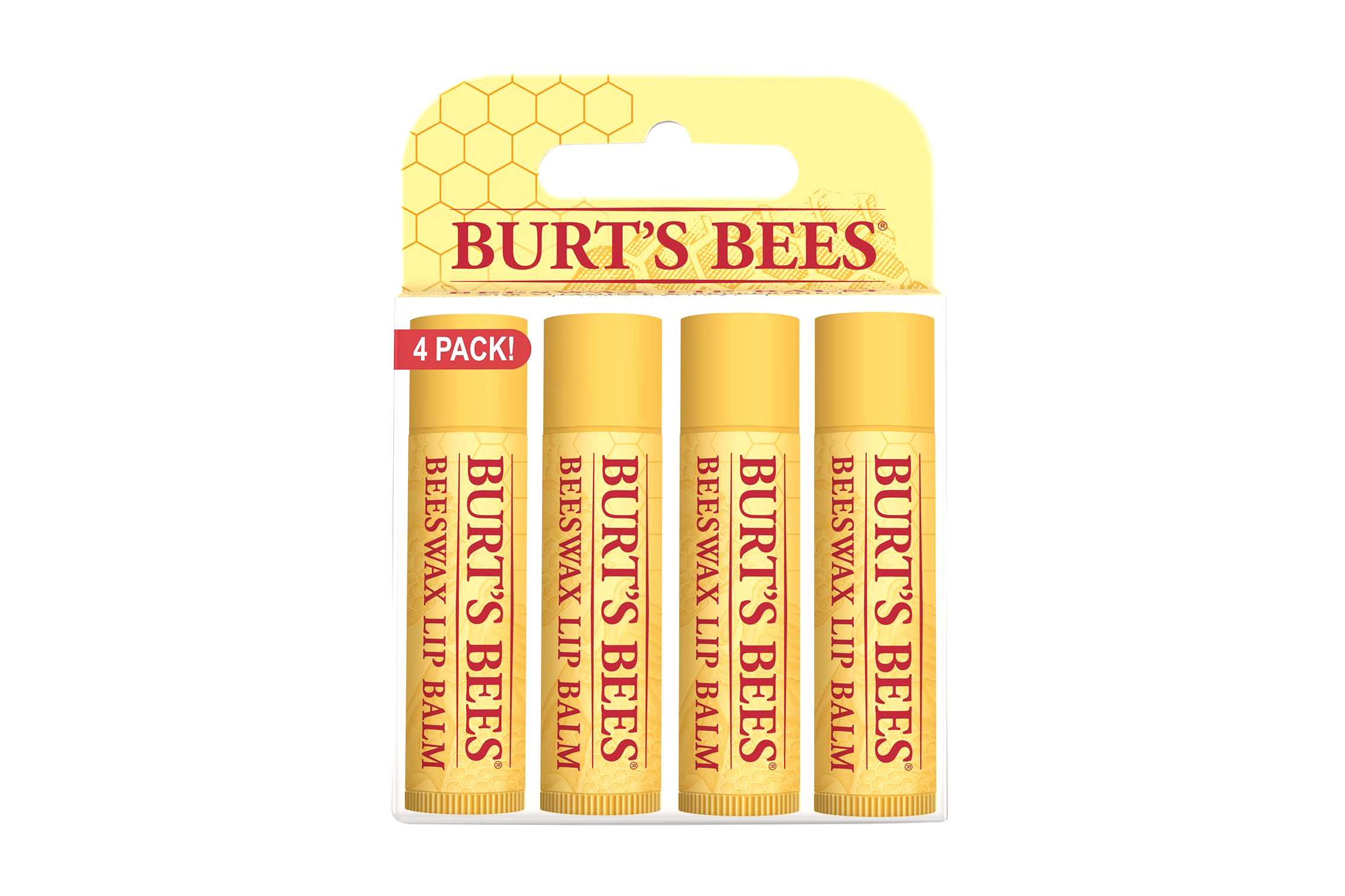 100% Natural Lip Balm Beeswax, 4 count - 4.5 stars - $9 (Prime)