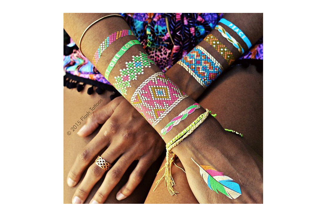 Premium Waterproof Metallic Tattoos, 4 Sheets - 4.5 stars - $25 (Prime)