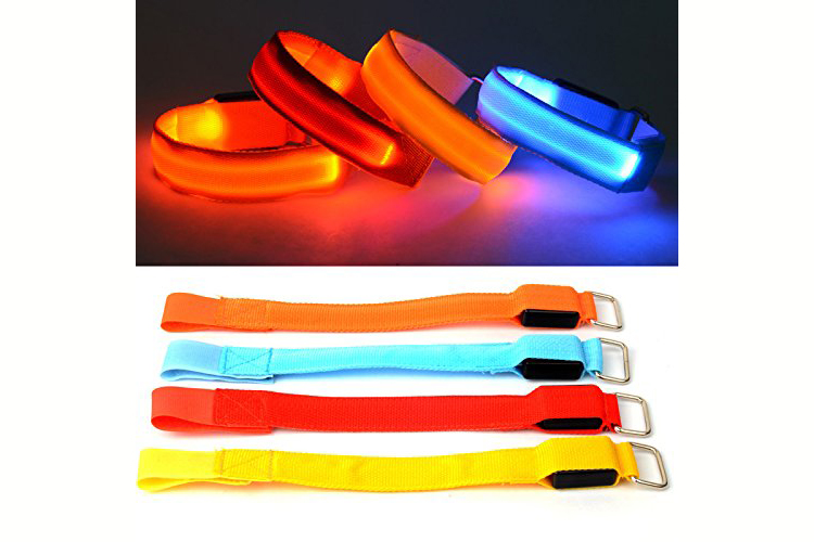 4 Piece LED Arm Band, with Blink Mode 4.5 stars $9 (Prime)