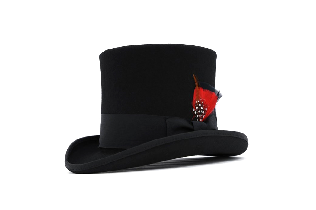 Wool Mad Hatter Top Hat, 9 Colors - 4.5 stars - $55 (Prime)