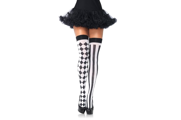 Harlequin Thigh High Stockings - 4 stars - $6 (Prime)