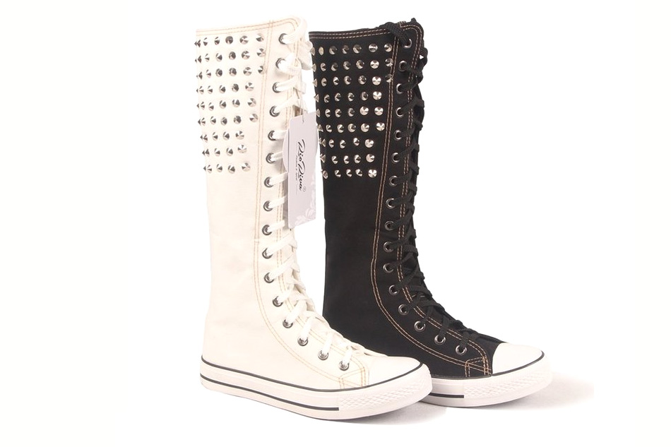 Lace Up Knee High Sneakers - 4.5 stars - $29