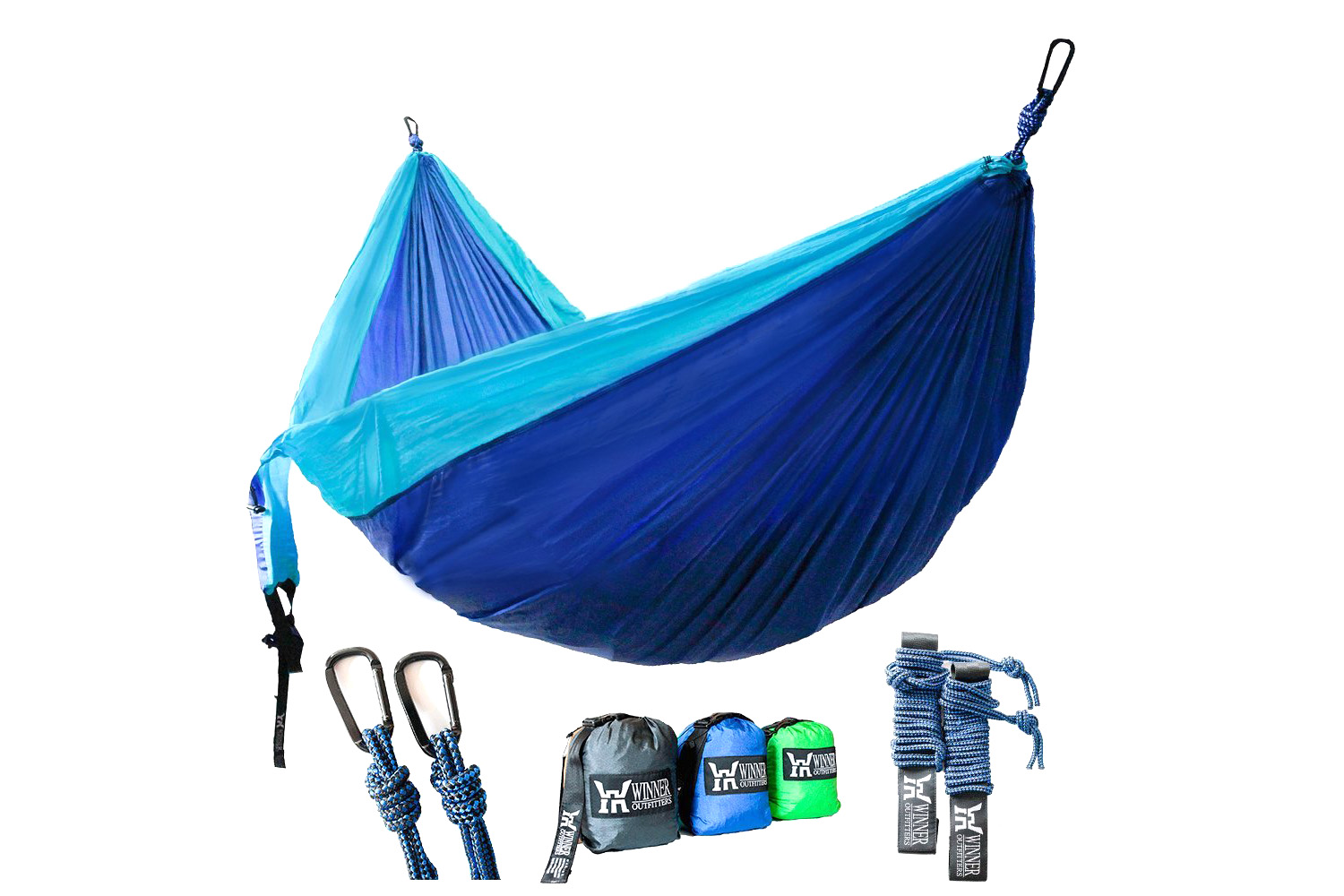 Two-Person Hammock, Includes Tree Straps 5 stars - $25 (Prime)