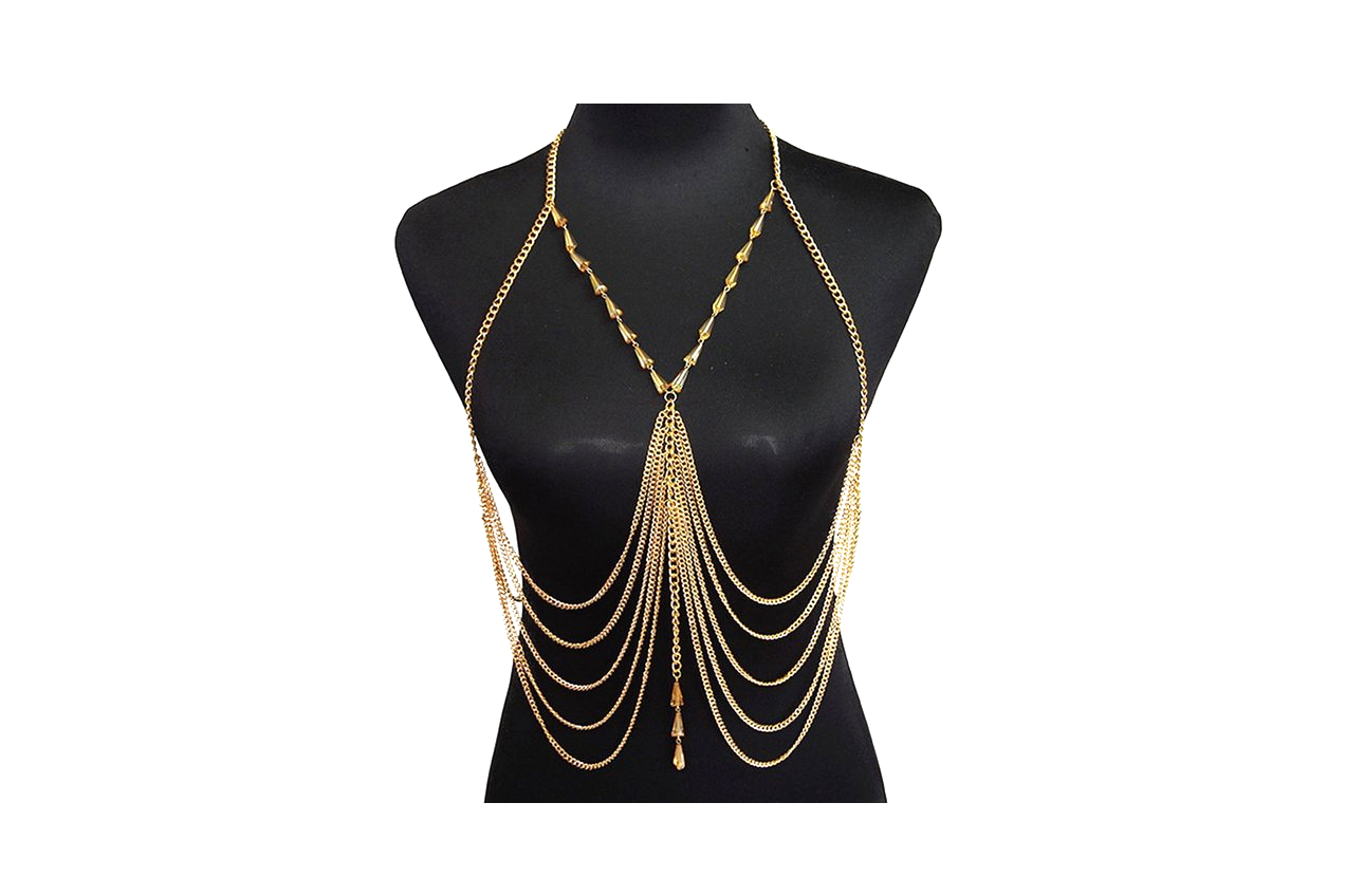 Inverted Crystal Body Chain - 5 stars - $8 (Prime)
