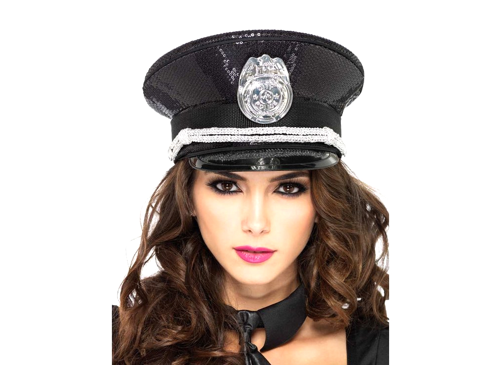 Sequin Police Hat - 3 stars - $23
