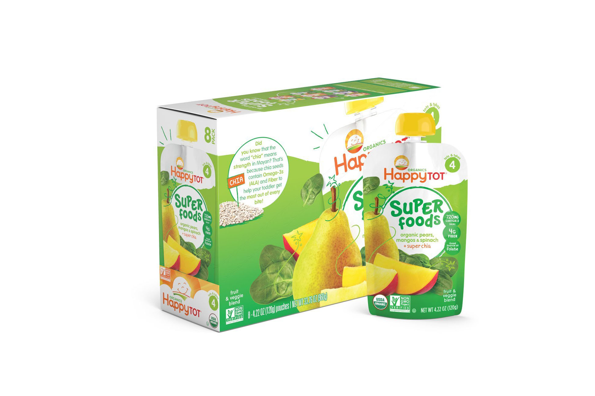 Organic Pears, Mango, Spinach Baby Food - 4.5 stars - $20 (Prime)