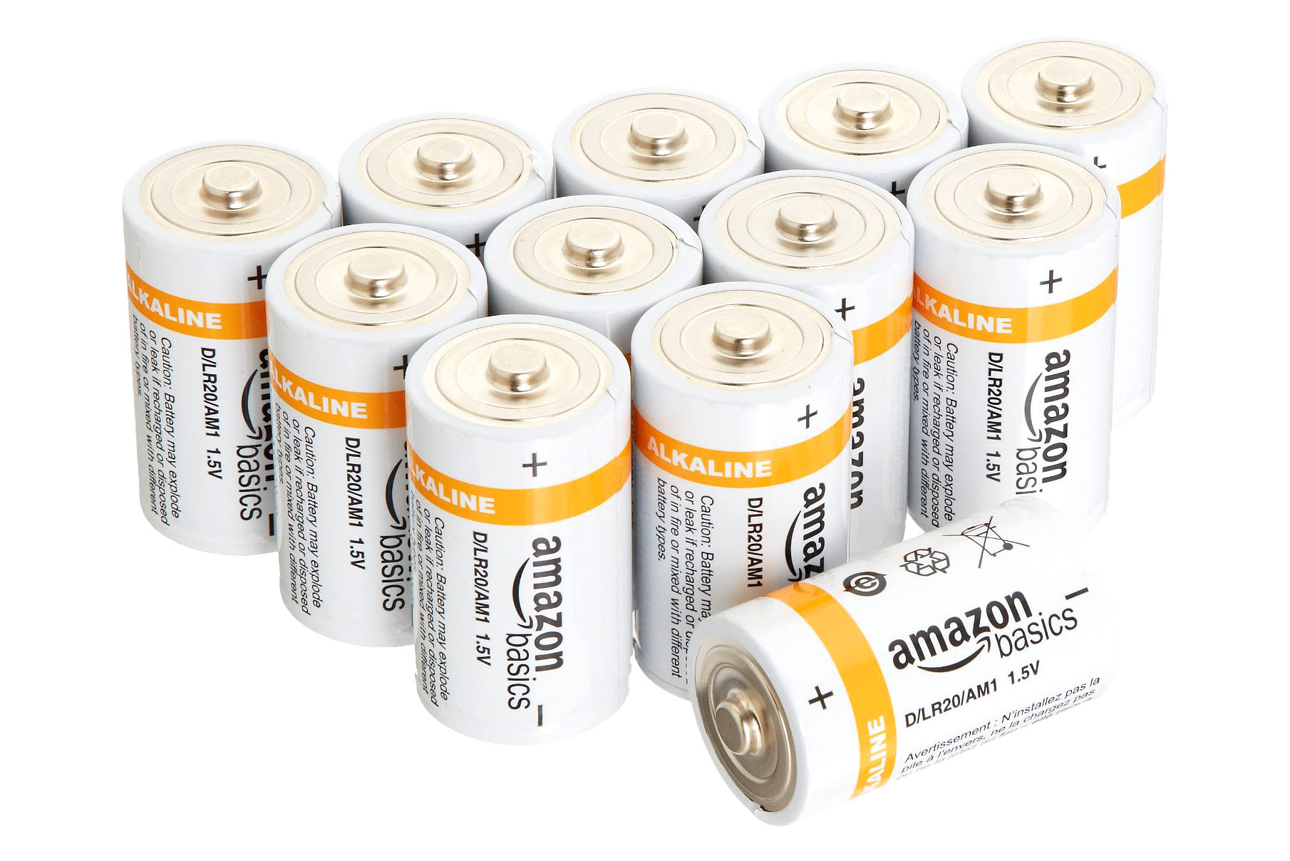 12 Pack D Batteries - 4.5 stars - $12 (Prime)