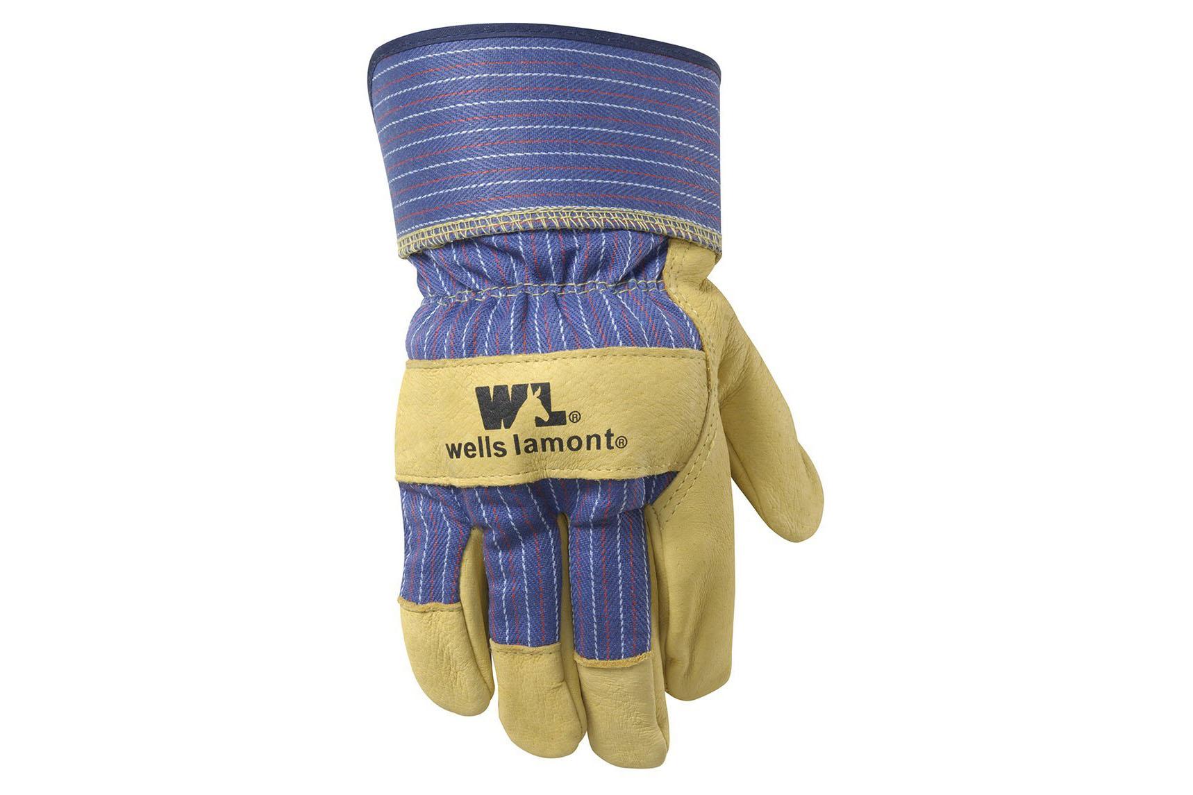 Grain Leather Work Gloves - 4.5 stars - $11 (Prime)