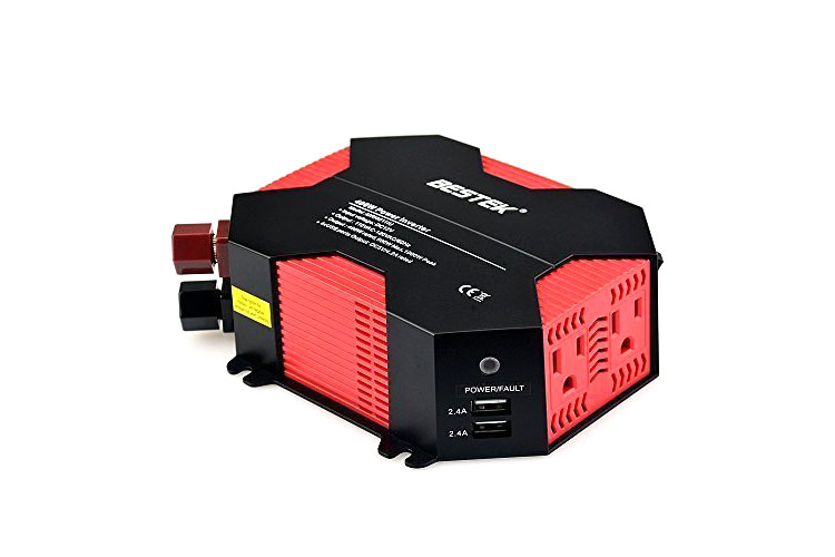 400W Power Inverter DC 12V to AC 110V Car Adapter w/ 4 USB charging ports - 4.5 stars - $35 (Prime)