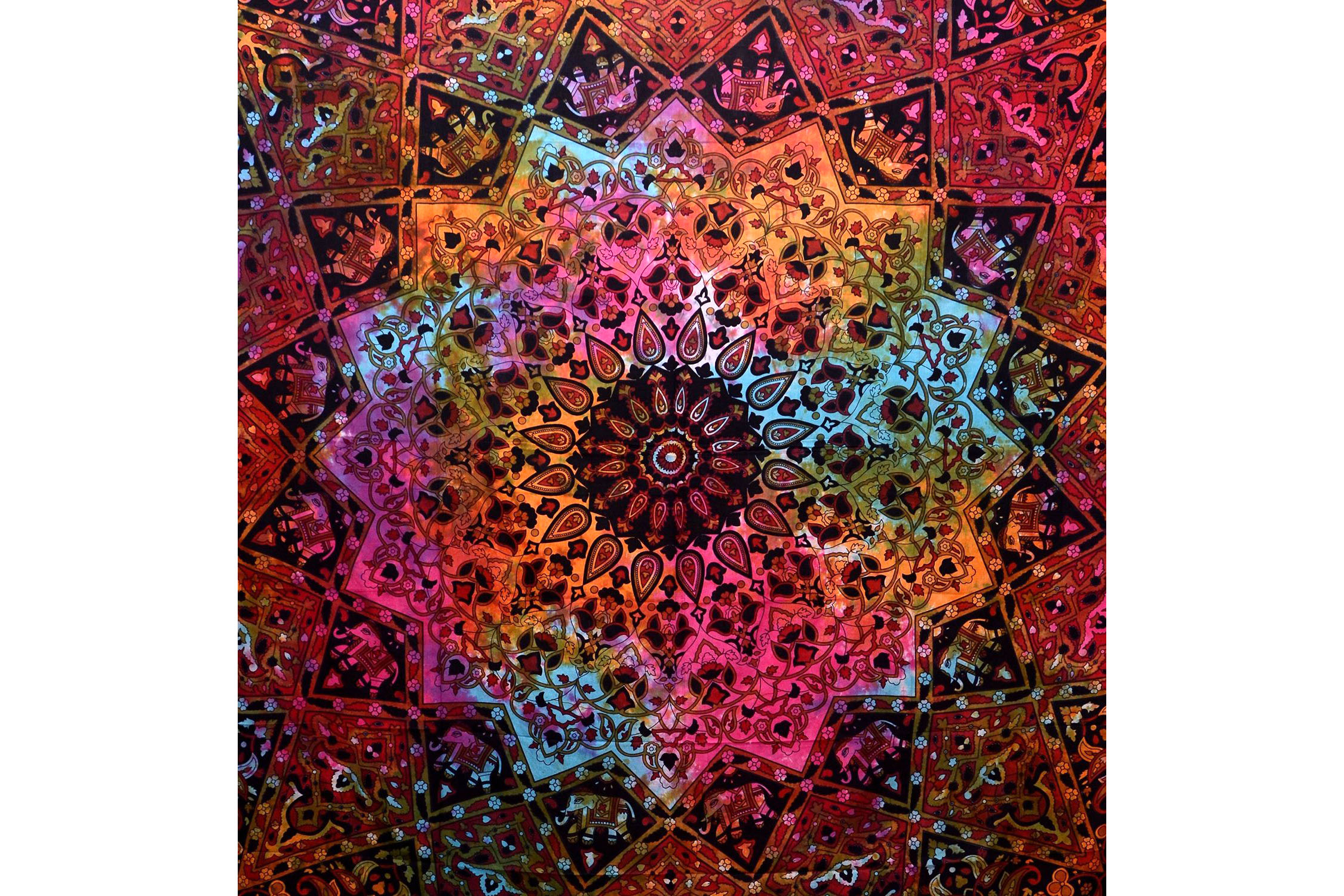 Kaleidoscopic Star Tapestry - Multiple Colorways 4.5 stars - $1-$30 (Prime)
