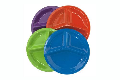 "Premium Quality Unbreakable Plastic 10"" Divided Plates - 4.5 stars - $13 (Prime)"