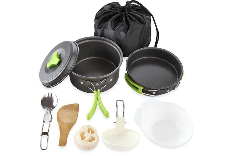 Cookware Mess Kit 10 Piece Cookset - 4.5 stars - $20 (Prime)