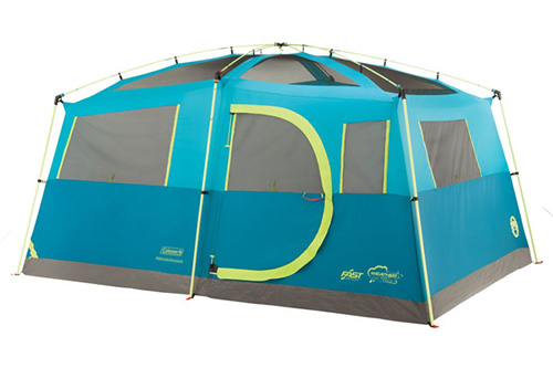 8 Person Fast-Pitch Cabin Tent with Closet Area 4 stars - $152 (Prime)