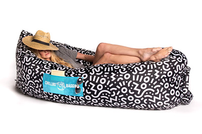 Chilbo Baggins Inflatable Lounge Bag (No Pump Necessary) -   4.5 stars - $60 (Prime)