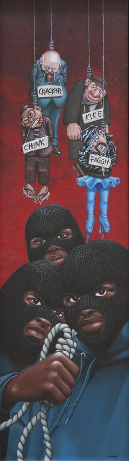 Da Lench Mob / acrylic on illustration board / 1993 / sold