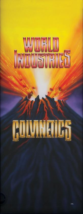 Colvinetics / airbrush on illustration board / 1992 / sold