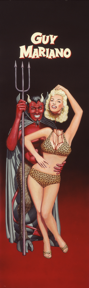 The Devil and Jayne Mansfield / acrylic and airbrush on illustration board / 1993 / traded