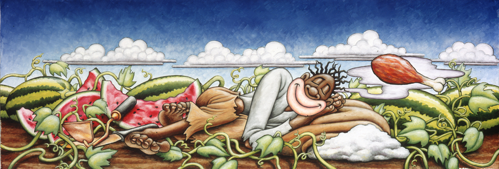 The Napping Negro / oil on canvas / 1993 / sold