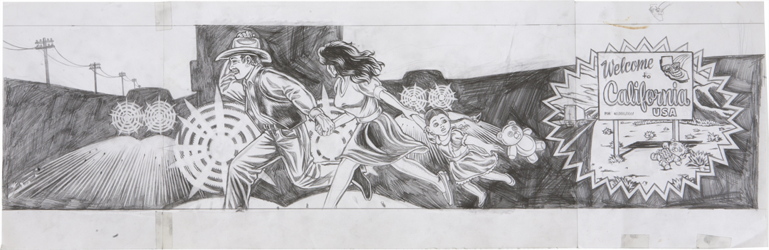 Run for the Border / pencil on paper / 1994 / sold