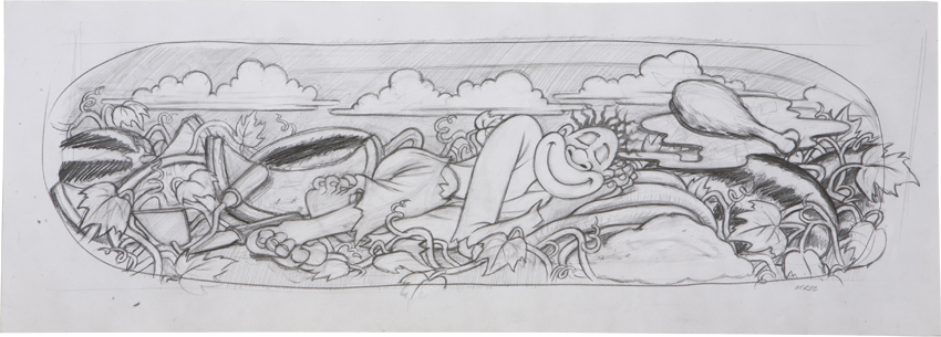 The Napping Negro / pencil on paper / 1993 / sold