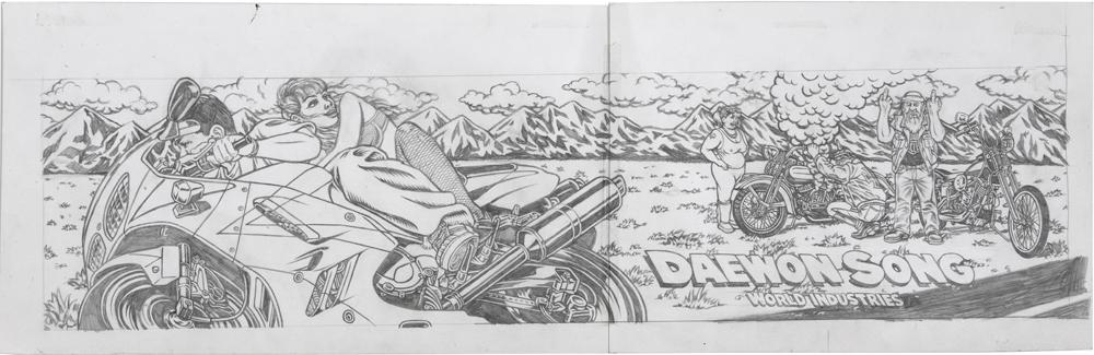 Riceburner / pencil on paper / 1994 / sold