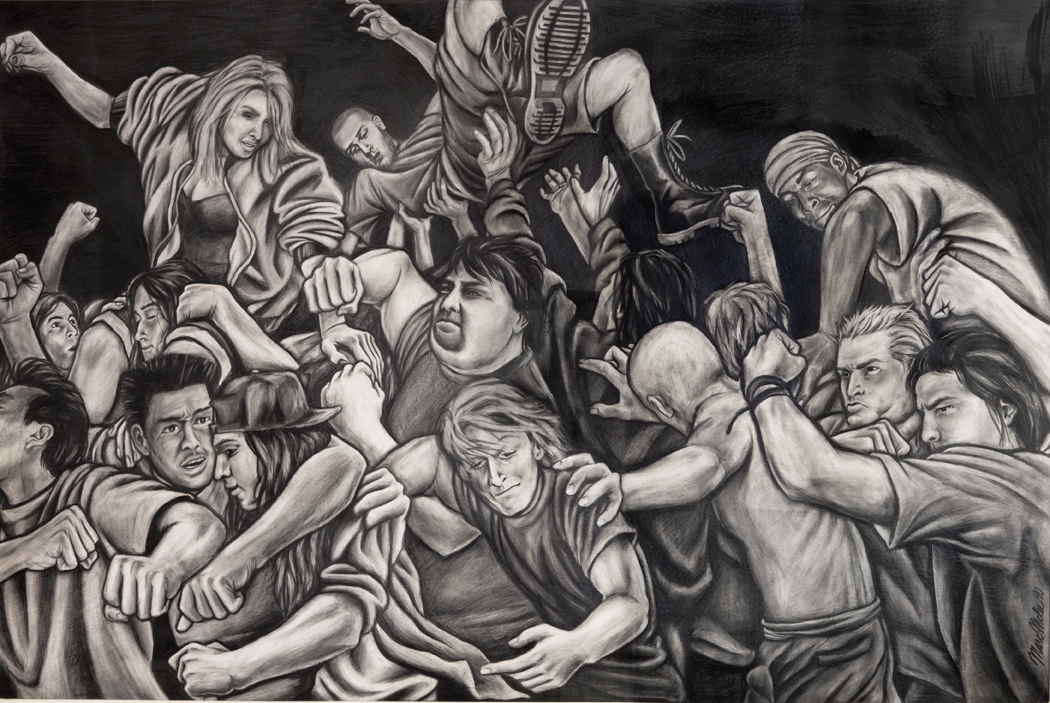 Untitled / pencil on illustration board / 1990 / sold