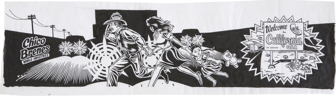Run for the Border / ink on paper / 1994 / sold