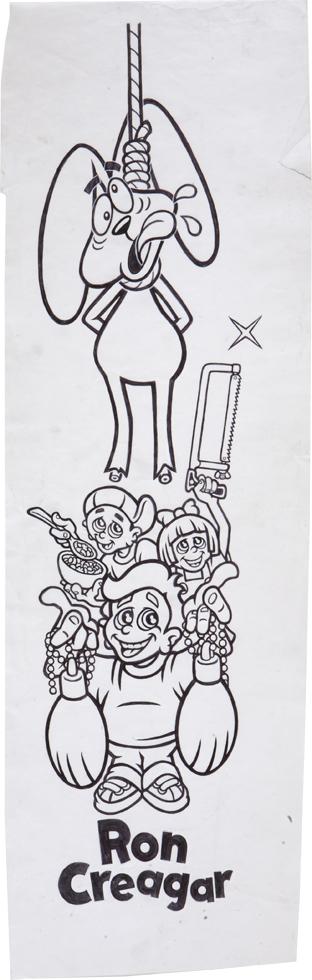 Trix Rabbit / ink on paper / 1995