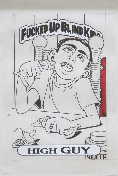 High Guy / ink and printouts on paper / 1992