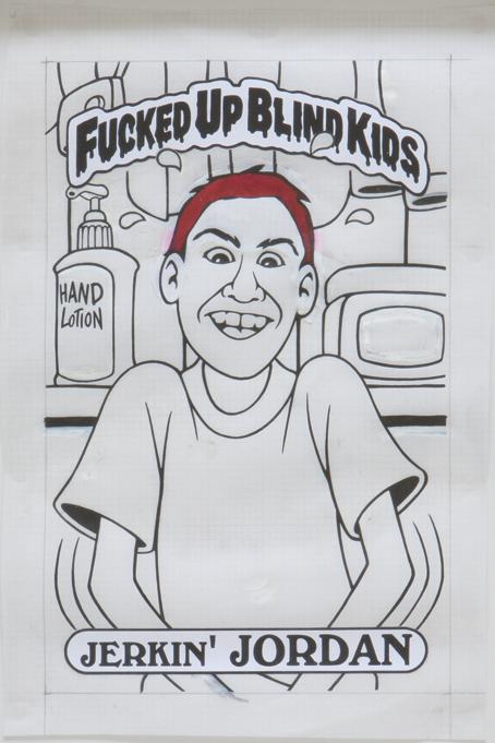 Jerkin' Jordan / ink and printouts on paper / 1992