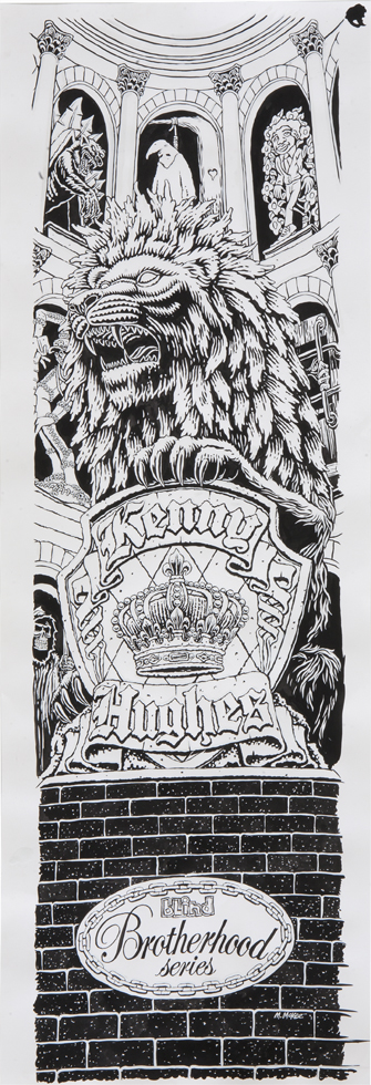Kenny Hughes Brotherhood Series / ink and goauche on paper / 2006