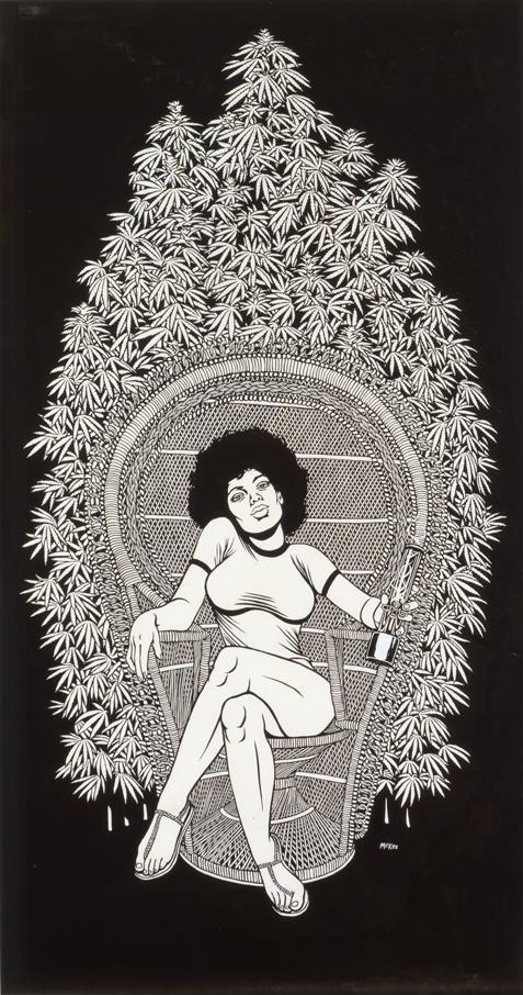 Maryjane / ink on paper / 1994 / sold