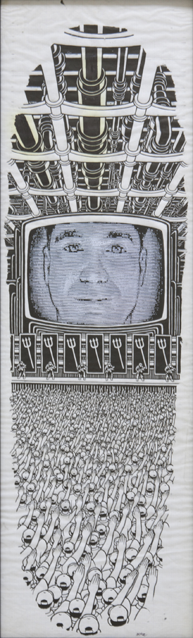 Rocco 1984 / ink and printout on paper / 1993 / sold