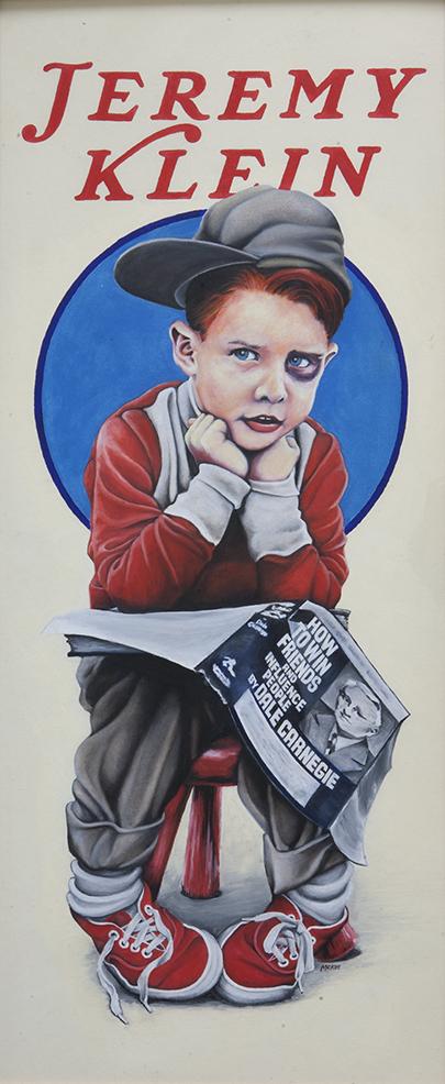 Black Eye Kid / oil and gesso on illustration board / 1992 / sold