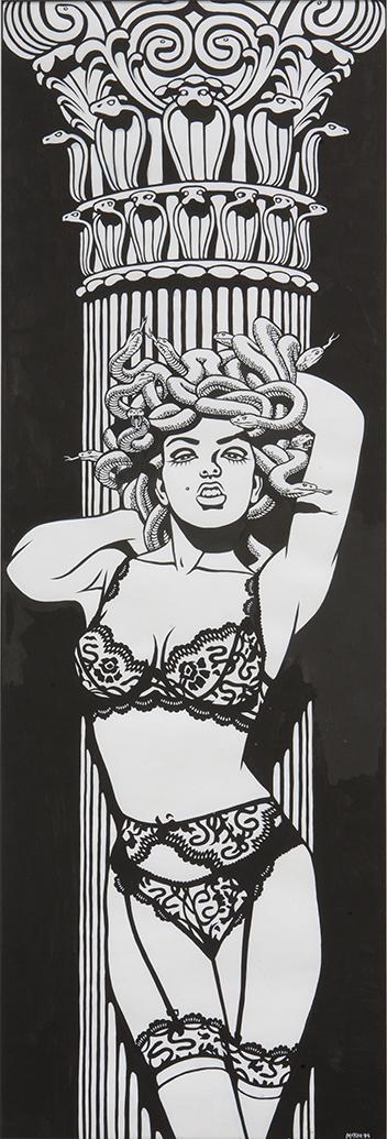 Medusa / ink on paper / 1994