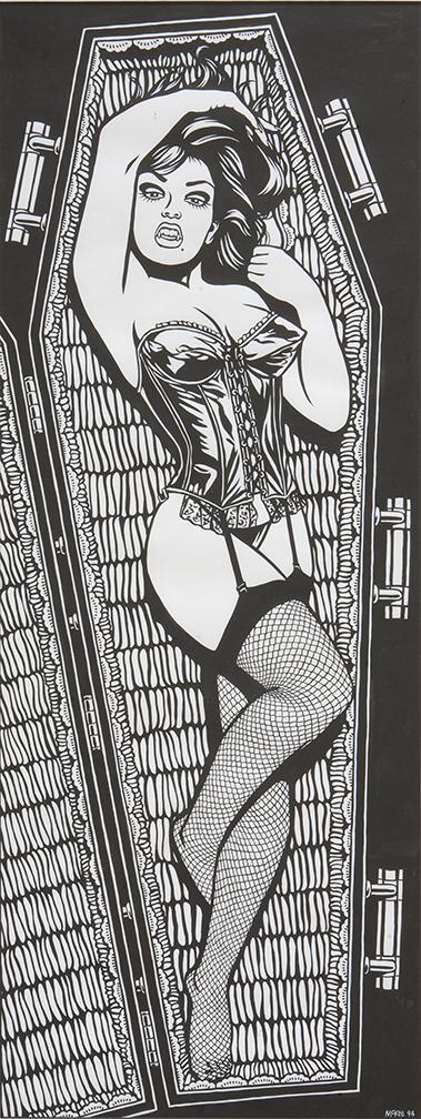 Vampire Girl / ink on paper / 1994