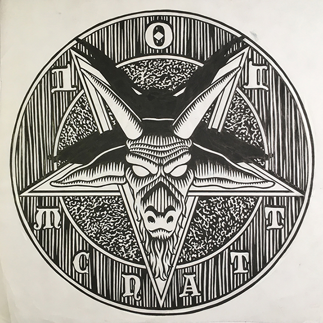pentagram / ink and goauche on paper / 1994 / sold