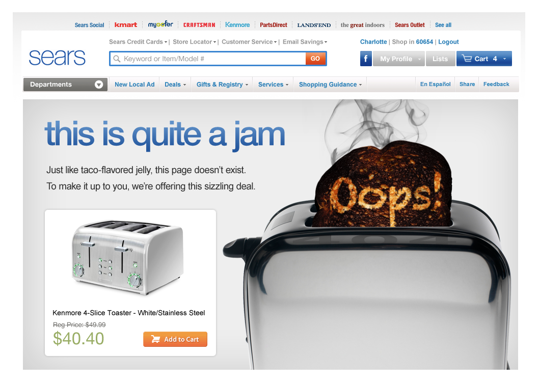 Proposed 404 Page - Small Kitchen Appliance