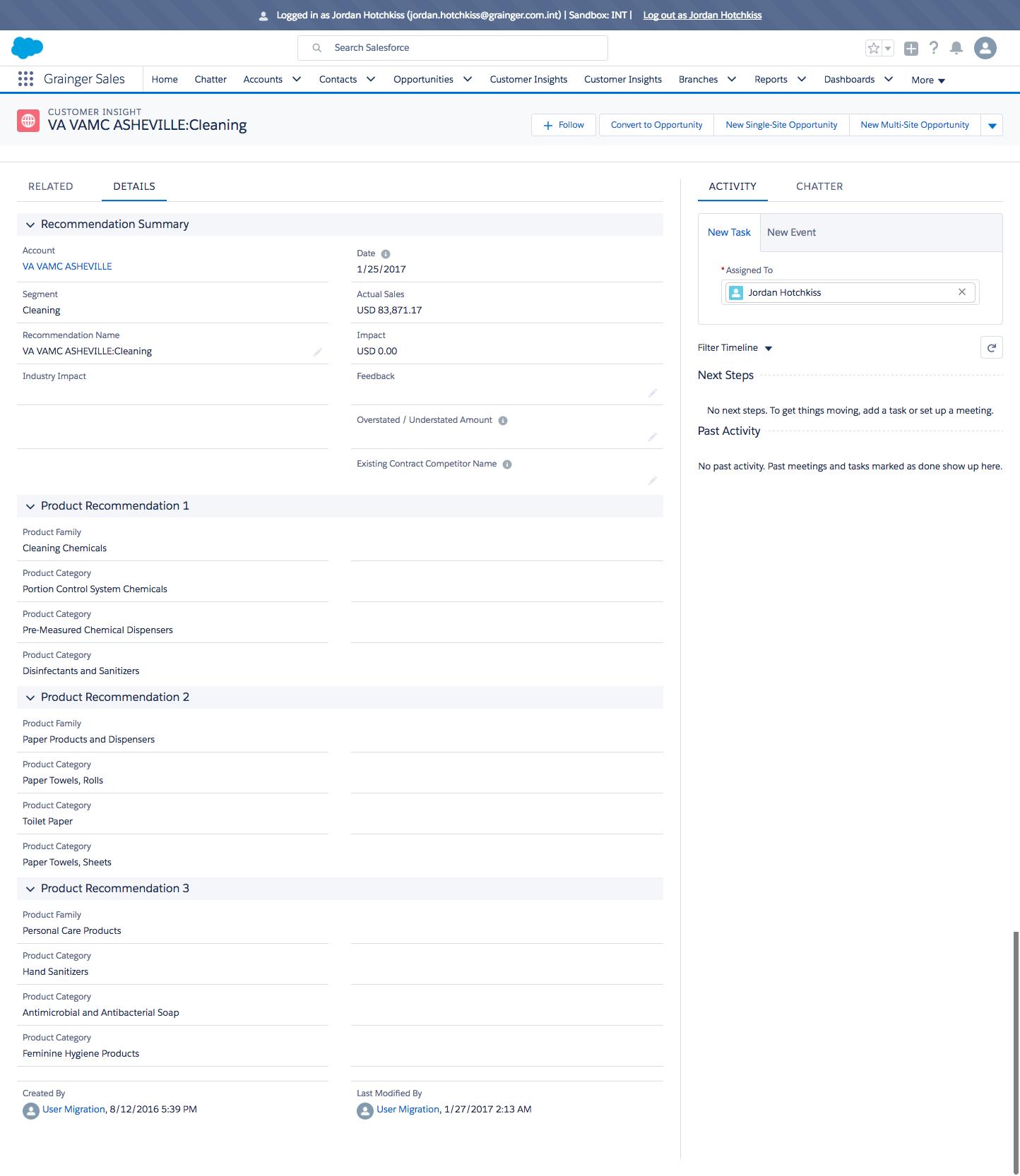 Insights Detail View - Salesforce Lightning