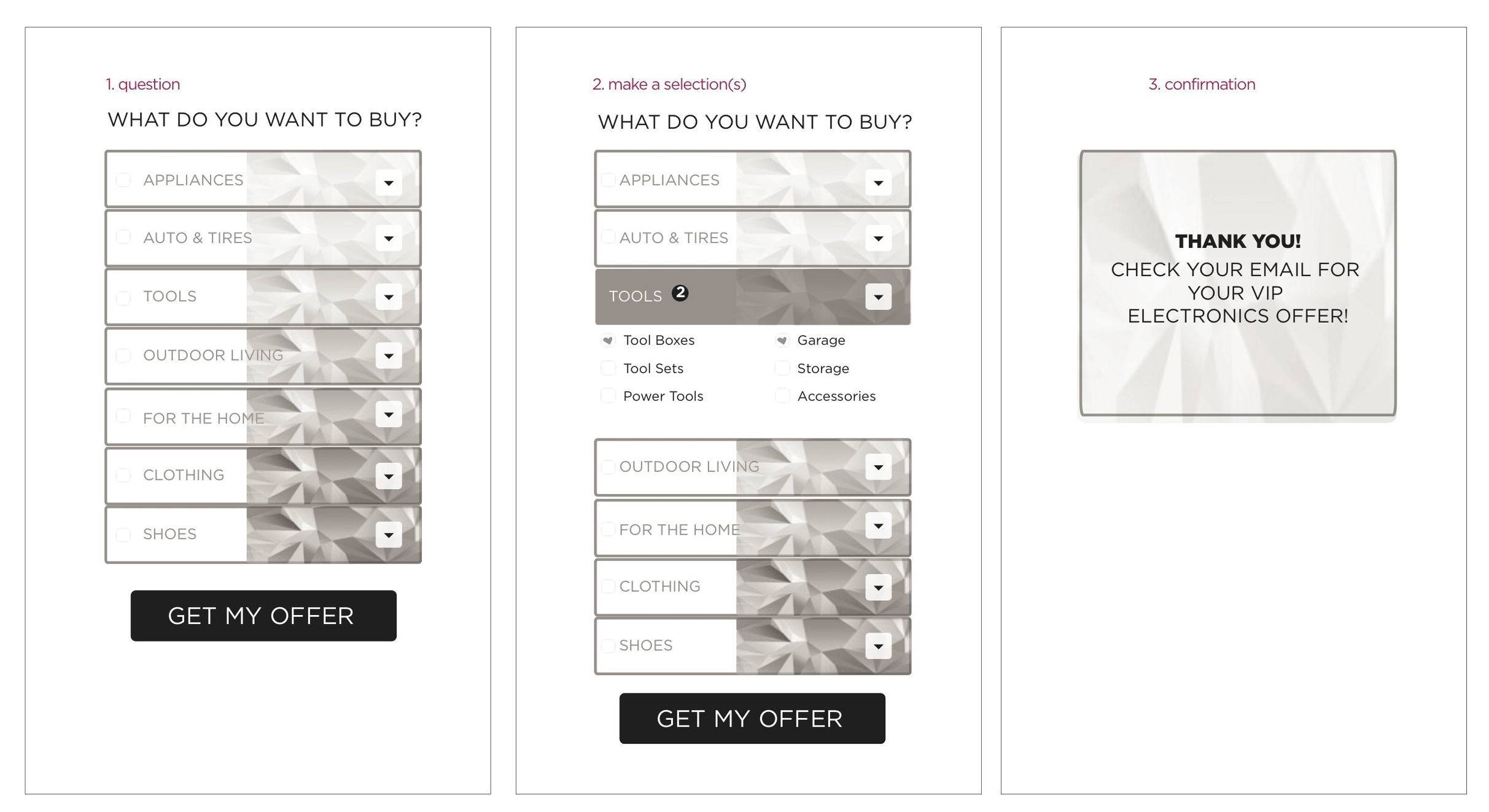 Experience Storyboard (Mobile)