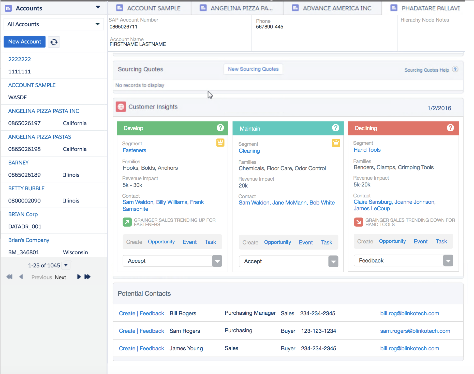 Inside Sales Agent Insights Dashboard (Salesforce Lightning)
