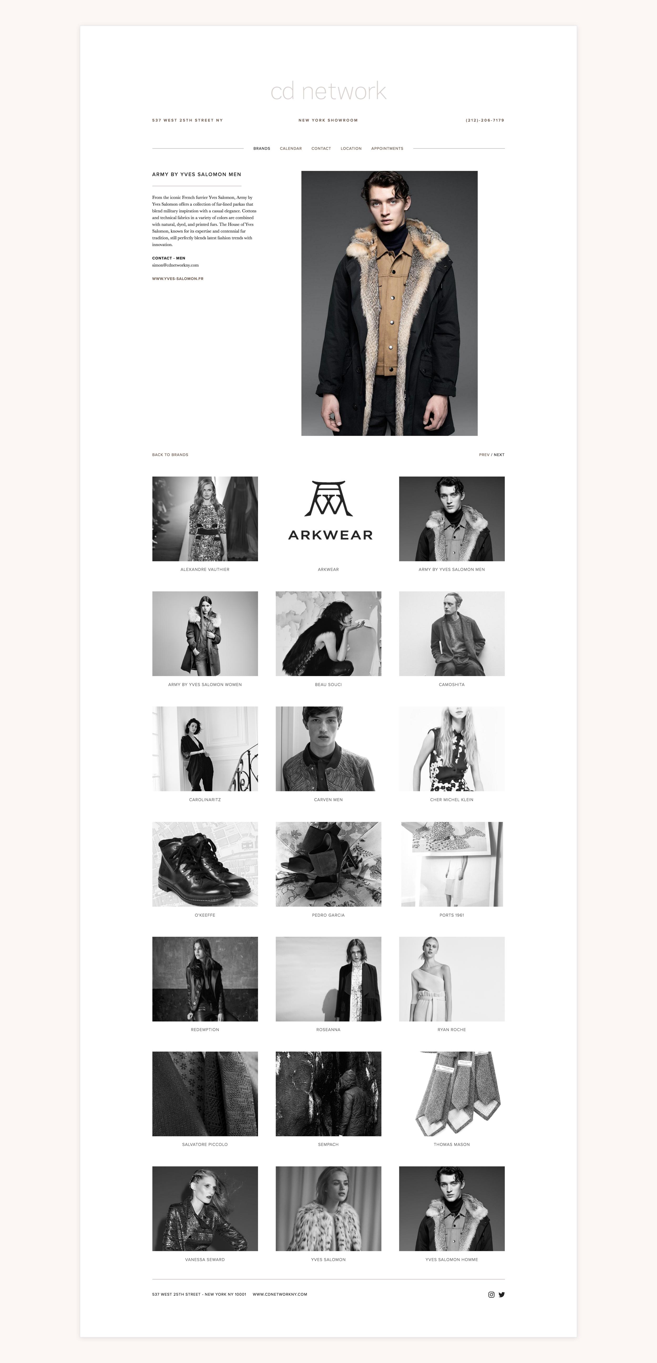 CD Network NY   Showroom Website. Front-end Development