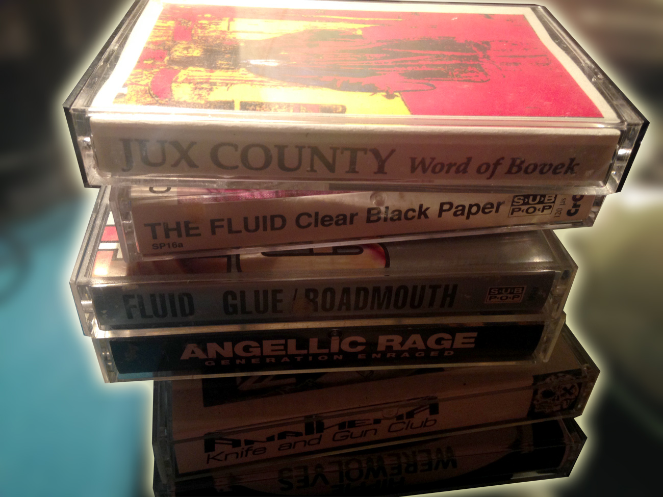 Cherished pieces of Denver music history purchased at Wax Trax sometime in our youth.