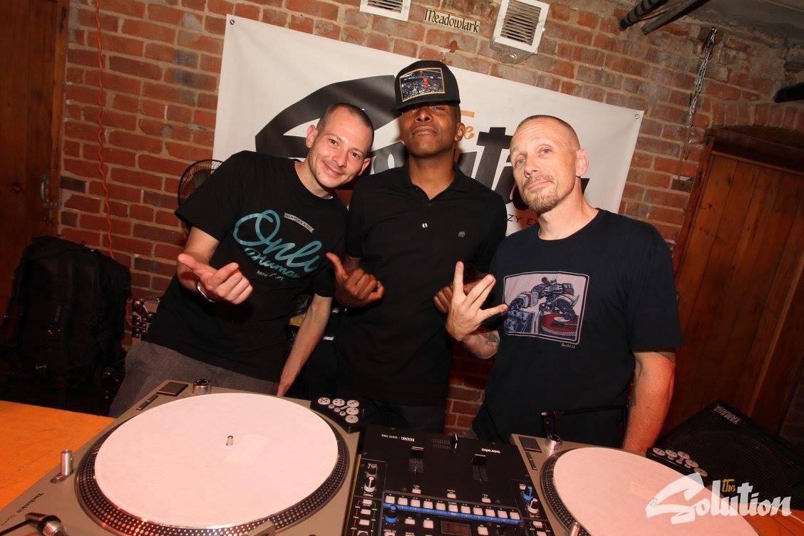 DJ Low Key (from left), Kouri Alston and DJ Revolution.
