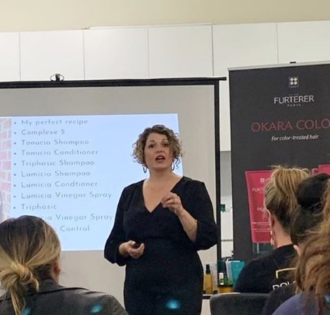 Presenting to stylists as part of Rene Furterer Pro conference [CD: HELP]