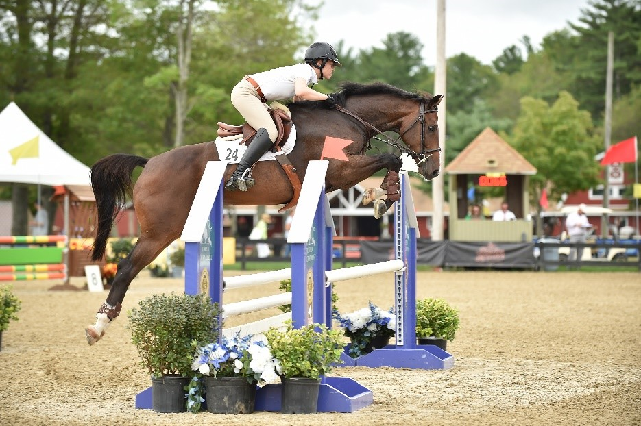The 5 Year Olds 1.10m-1.15m class win went to Calano Z ridden by Taylor Flury and owned by Aliboo Farm, Inc.