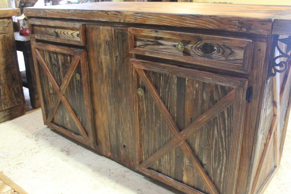 Barn Door Style Kitchen Island Frontier Rustic Store