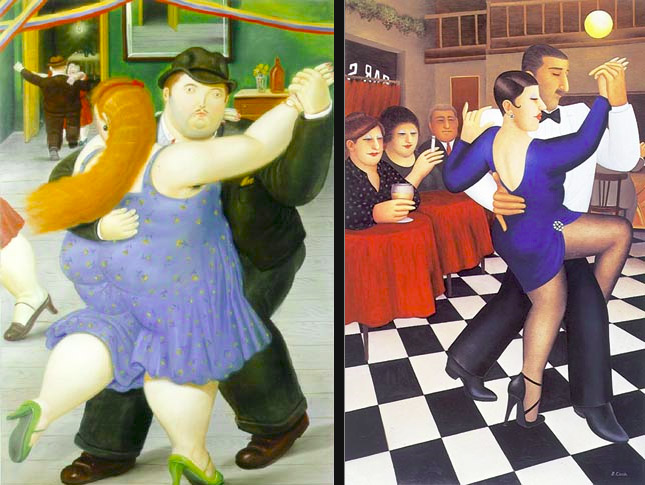 Dancers by Fernando Botero and Beryl Cook