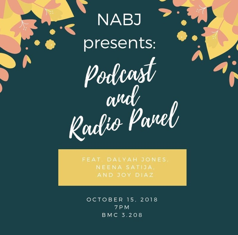 Panelist for NABJ 'Podcast and Radio Panel'