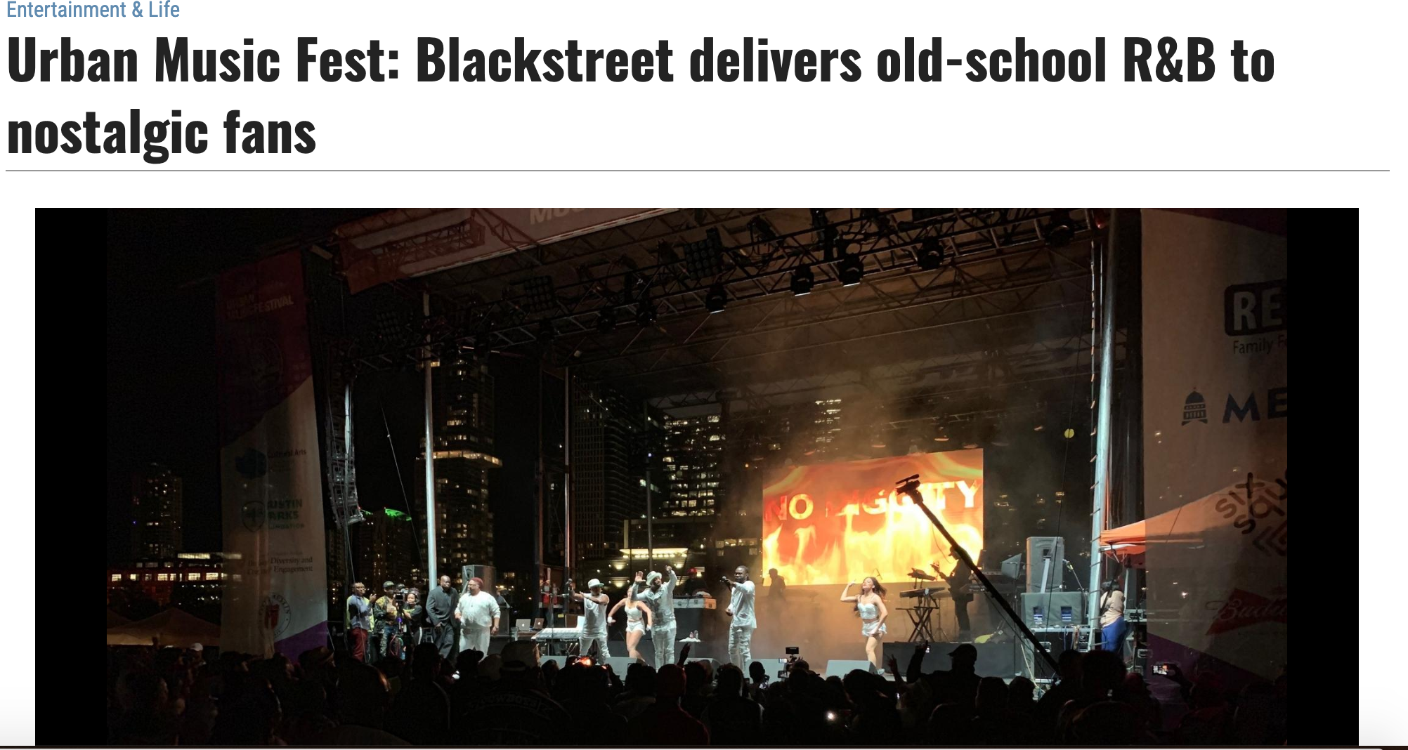 Urban Music Fest: Blackstreet delivers old-school R&B to nostalgic fans